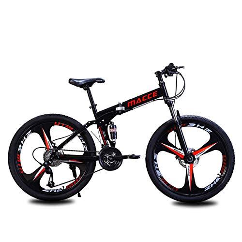 GOHHK Bicicleta montaña Plegable Ligera para niños Adultos, Cuadro Acero 24 '/...