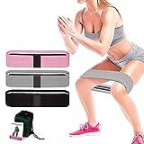 EVR Bandas de Resistencia (Set de 3), Bandas Elasticas de Fitness para Yoga, Pilates, Bandas Antideslizantes de Ejercicios para Fuerza de piernas y glúteos