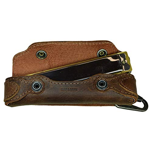 Hide & Drink, Harmonica Leather Case, Vintage Style, Instrument Protector, Musician Accessories, Handmade Includes 101 Year Warranty :: Bourbon Brown