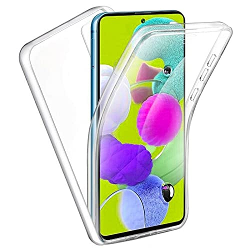 TBOC Funda Compatible con Samsung Galaxy Note 10 Lite [6.7'] - Carcasa [Transparente] Completa [Silicona TPU] Doble Cara [360 Grados] Protección Integral Delantera Trasera Lateral Móvil