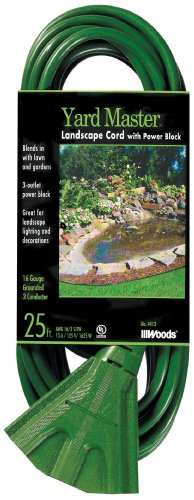 Woods 984413 25-Foot Extension Cord with 3-Outlet Block, Weatherproof Flexible Jacket,13 AMP, 125...