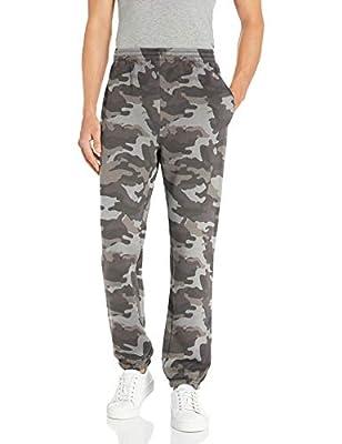 Amazon Essentials Men's Closed Bottom Fleece Sweatpants, Grey Camo, X-Small
