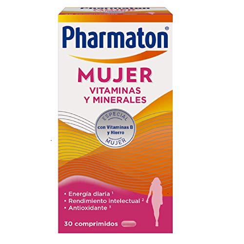 Pharmaton | Multivitaminas | Energía diaria | Mujer 30 comprimidos | Ayuda a las mujeres a mantener su vitalidad cada día