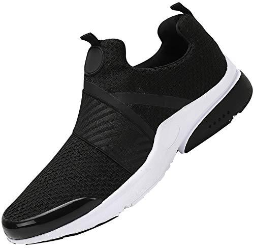 Mishansha Zapatos de Running para Hombre Mujer Comodos Respirable Caminar Fitness Zapatillas Unisexo Adulto Antideslizantes Bajo Superior Sneakers Ultraligero Zapato Casuales, Negro 39 (Ropa)