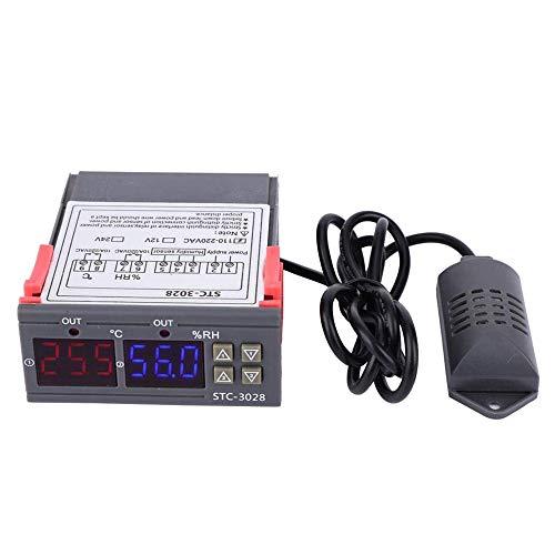 Huatuo STC-3028 Display digitale Termostato con regolatore di umidità e temperatura Termostato a doppio display Controllo igrometro Controllo dell'interruttore (220V)