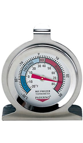 Paderno World Cuisine Stainless Steel Refrigerator/Freezer Thermometer
