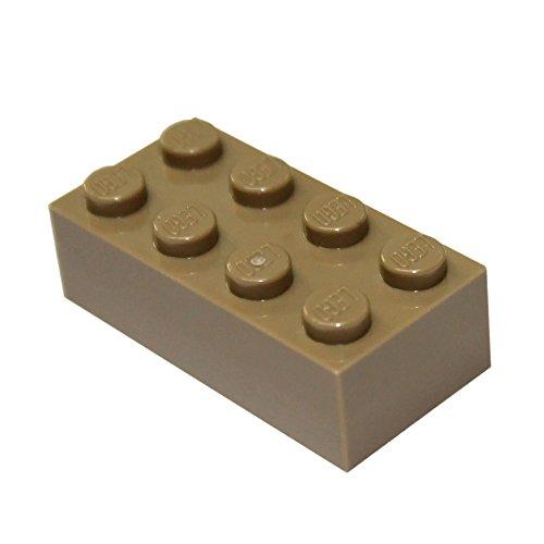 20 LEGO Ladrillos 2x4 Tan Oscuro