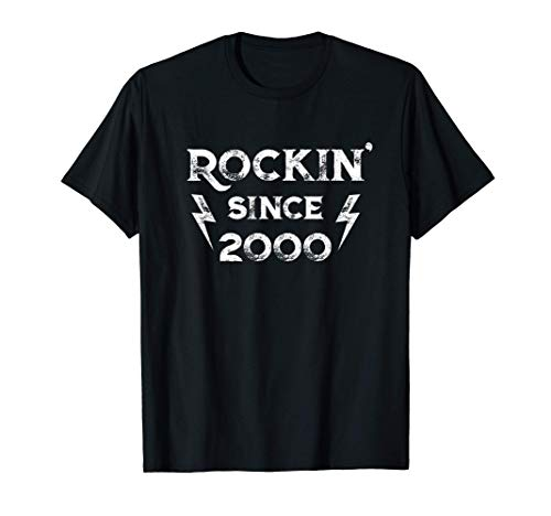 Gift for 21 Year Old: Classic Rock 2000 21st Birthday T-Shirt