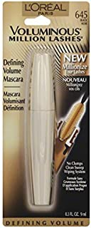 L'Oreal Voluminous Million Lashes Mascara, Black 645
