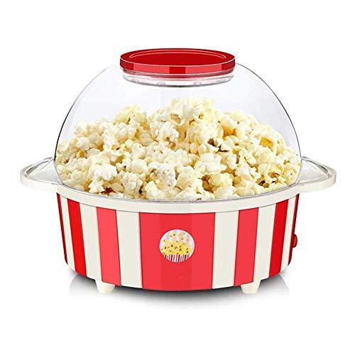 Popcornmaker, elektrische popcornfabrikant, 850 W, korte boodschappenmand & popcorn performance, anti-aanbaklaag verwarmingsoppervlak, het deksel dient ook als kom