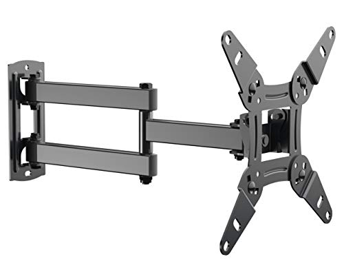"Full Motion TV Wall Mount Bracket fits to Most 13-40 inch TVs & Monitors, Wall Mount TV Bracket with Arm Articulating Tilt Swivel & Extends 14.5"" - TV Mount fits LED, LCD, OLED Flat Screen TVs"