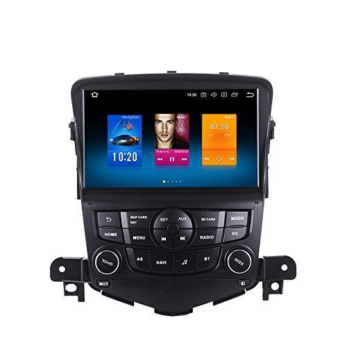 Dasaita Android 10.0 Autoradio Bluetooth für Chevrolet Cruze 2008-2012 Radio Touchscreen 1 Din Unterstützt Autoplay Mirrorlink DAB+ WiFi USB 4GB 64GB