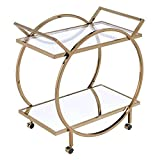 ACME Traverse Serving Cart - - Champagne & Mirrored