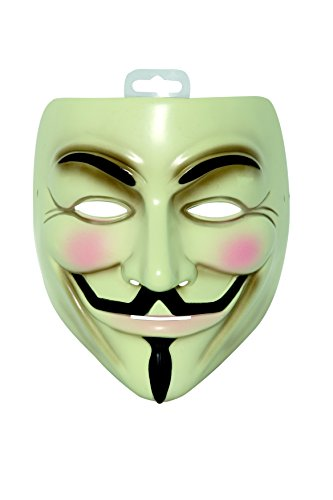 Rubies masque, color blanco y negro, Talla única (V pour Vendetta I-4418)