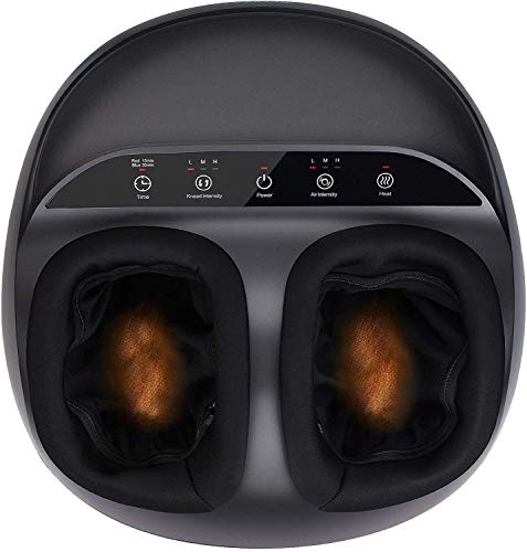 RENPHO Shiatsu Foot Massager Machine with Heat, Deep Kneading Therapy, Air Compression, Relieve Foot Pain from Plantar Fasciitis, Improve Blood Circulation, Fits feet up to Men Size 12 Panel Control