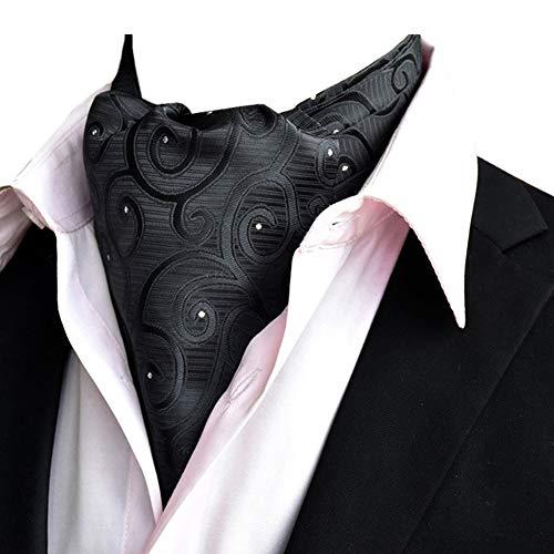 STTLZMC Herren Krawattenschal Ascotkrawatte Schal Fashion Gentleman Cravat Ties,color 4,One Size