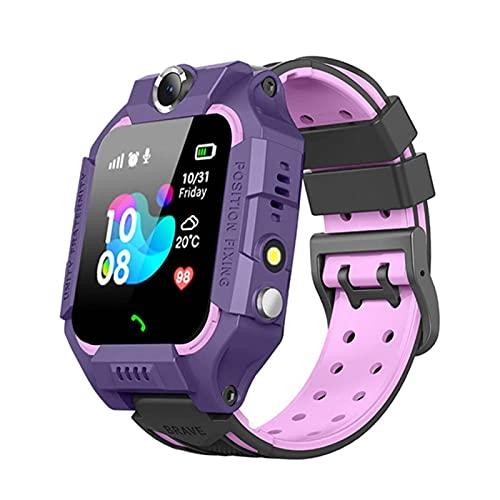 HJYBYJ Z6 SOS SOS SMS Smart Watch IP67 Tarjeta SIM A Prueba De Agua Reloj para Niños Rastreador GPS Rastreador Anti-perdido Pulsera Inteligente (Color : Purple)
