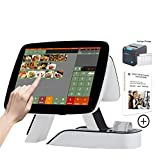 ZHONGJI Cash Register for Restaurants Bars with Kitchen Printer Touch Screen POS System