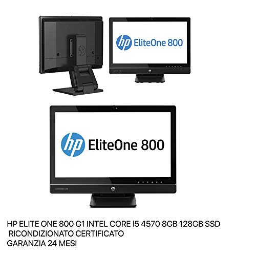 PC All in One HP EliteOne 800 G1 - iCore i5 - Ram 8GB - SSD 128GB - Schermo 23