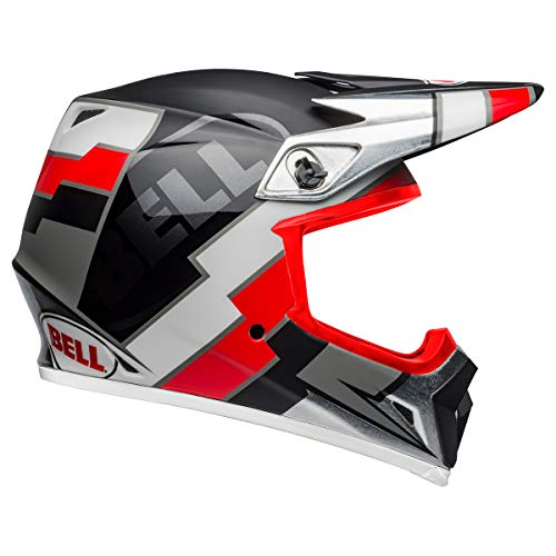 Bell MX-9 MIPS Off-Road Motorcycle Helmet (Twitch Replica Matte Gloss Black/Red/White, X-Large)