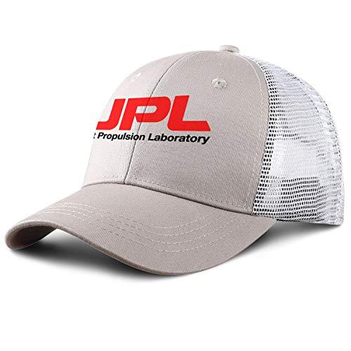 RDDD Logo NASA JPL Summer Comfort Dad Trucker Hats Adjustable Mesh Hat Pure Black Baseball Cap