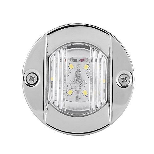 Luces de navegación LED de 12 V para barco, luces de popa de anclaje, luces de popa de yate, luces de señal de vela de acero inoxidable blanco para barcos LED