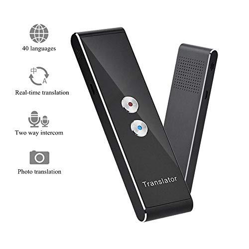 Tragebare Smart Zwei Wege Echtzeit Multi Sprache Stimme Translator für das Lernen Reisen Treffen usw. Übersetzung mehr als 40 Sprachen, Kompatibel mit iOS/Android Telefon (schwarz)