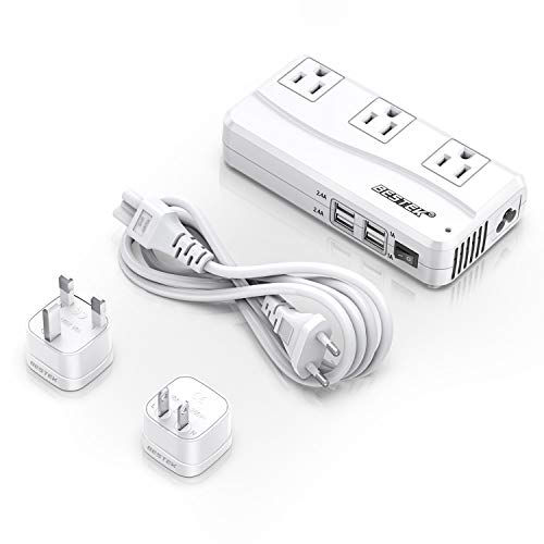 BESTEK Universal Travel Adapter 220V to 110V Voltage Converter with 6A 4-Port USB Charging...