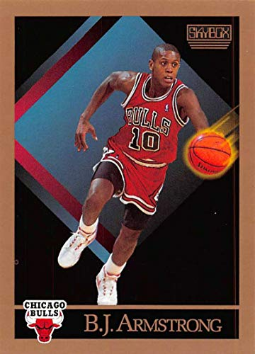 Basketball NBA 1990-91 SkyBox #37 B.J. Armstrong #37 NM RC Rookie Bulls
