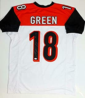 A.J. Green Autographed Jersey - AJ White Pro Style Witnessed Auth *1 - JSA Certified - Autographed NFL Jerseys