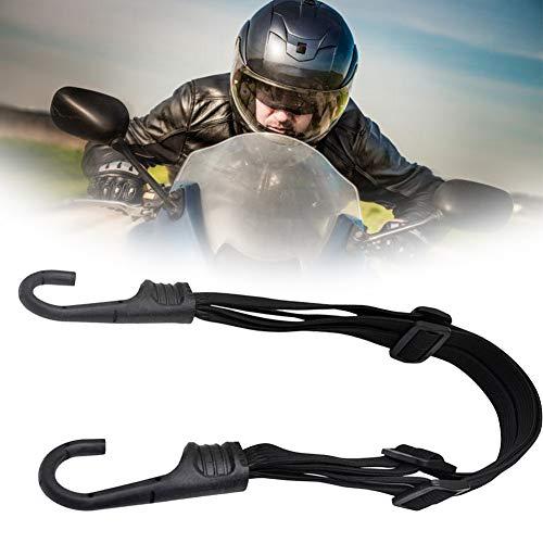 1PC Fahrradgepäck Gummibandgurte Motorrad Fahrrad Verstellbarer Gepäckgurt mit Haken zum Tragen und Sichern von Gegenständen auf Reisen Schwarz
