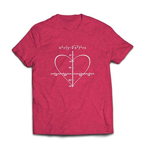 lepni.me Camisetas Hombre Fórmula de Matemáticas del Amor Ecuación matemática Regalo para el Profesor