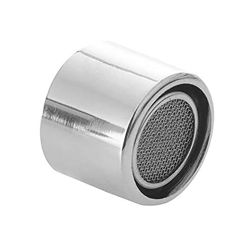 Filtro para grifo de agua, aireador, boquilla mezcladora, aireador, color plateado para cocina/baño (1 pieza)