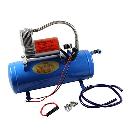 JDMSPEED New 150PSI DC 12V Air Compressor with 6 Liter Tank for Train Horns Motorhome Tires
