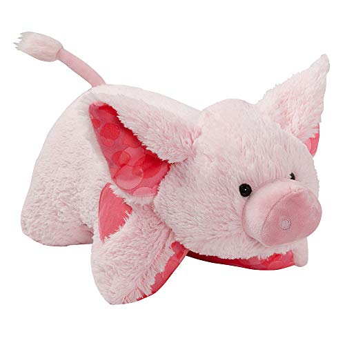 Pillow Pets Sweet Scented Bubble Gum Piggy, Stuffed Animal Pig Plush Toy
