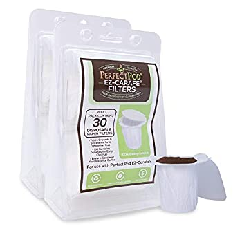 EZ-Carafe Disposable Paper Filters by Perfect Pod 2-Pack  60 Filters