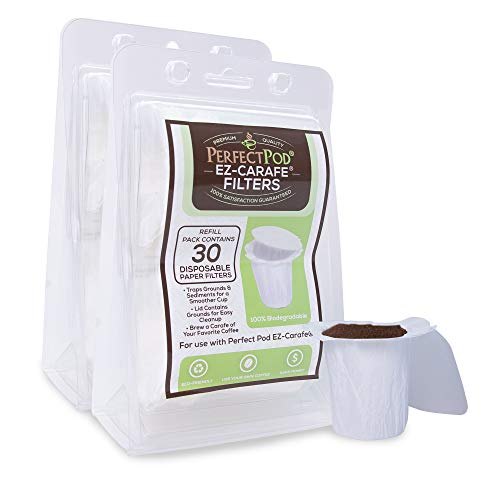 EZ-Carafe Disposable Paper Filters by Perfect Pod, 2-Pack (60 Filters)