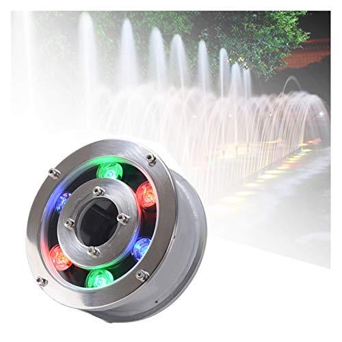 ASPZQ Luz LED Subterránea Luz Subacuática LED IP68 RGB Al Aire Libre Impermeable Foco de Agua Colores Luz Piscina Fuente Luz Decoración navideña (Color : E, Size : 12W)