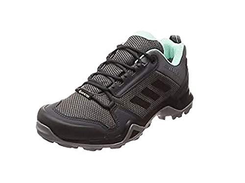 adidas Damen Terrex AX3 GTX W Trekking- & Wanderhalbschuhe, Grey Core Black Clear Mint, 40 2/3 EU