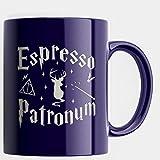 Engraved Ceramic Coffee Mug - Espresso Patronum - 11 fl.oz - Inspirational and sarcasm - Engraved in the USA