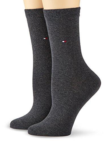 Tommy Hilfiger Frauen Casual Socken, Blickdicht, Anthrazit Melange, 39/42 (2er Pack)