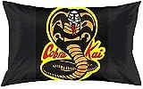 KINGAM Karate Cobra Kai - Fundas de almohada decorativas japonesas retro para sofá, cama, silla, coche, decoración del hogar de 50 x 76 cm