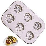 Teglia Per Torte, Cupcake, Teglia Per Muffin Per 6 Muffin, 26 x 16 Cm, Teglia Per Mini Muffin, Rivestimento Antiaderente, Materiale Acciaio Al Carbonio
