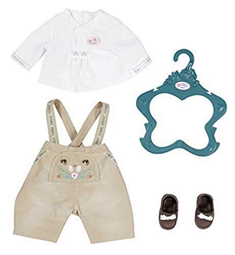 Zapf Creation 828755 BABY born Trachten-Outfit Junge Puppenkleidung für besondere Anlässe und Feste, 43 cm, 5-teiliges Set