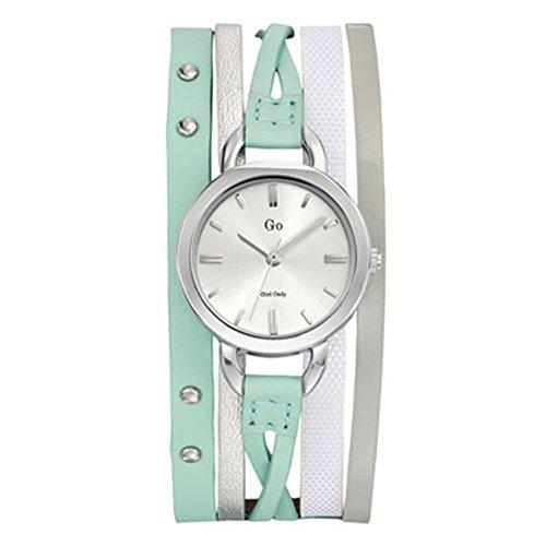 Go girl only 698546 - Reloj de Pulsera Mujer, Piel, Color Verde