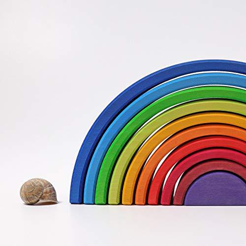 Grimm's Spiel und Holz Design Regenbogen 10 teilig, invertiert - 6