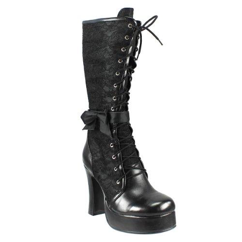 inamagura Stiefel Laced Boots 37HL114 Black EU42