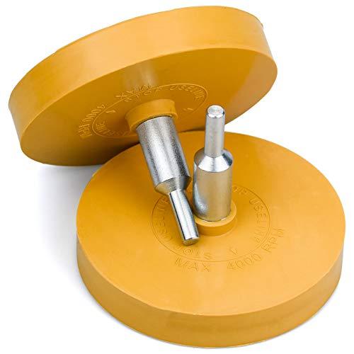 TDDL 2 STK Folienradierer Zierstreifen Radierer scheibenförmig KFZ Lackieren Folienradierer mit Schaft