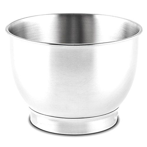 Klarstein Ersatzteile Serena Bowl Ersatzschüssel Edelstahlschüssel 4,3 Liter Schüssel für Klarstein Serena Küchenmaschine