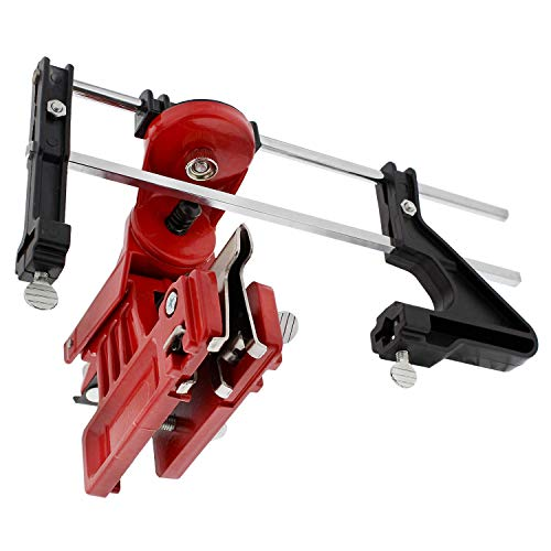 Felled Chainsaw Sharpener Kit - Precise Chainsaw Filing Guide with Dial Settings - Mounted Manual Chain Sharpener